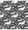 image pattern silhouette running animals vector image