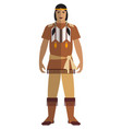 indian native american man isolated vector image vector image