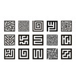 labyrinth symbol collection maze icon set vector image vector image