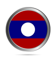 Laos flag button vector image vector image