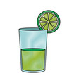 lemon juice in a glass organic tropical fruit vector image