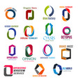 letter o corporate identity business icons vector image vector image