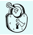 Lock with key vector image vector image