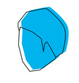 man head faceless with short hairstyle blue vector image