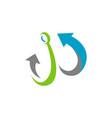 marine anchor logo nautical design vector image vector image