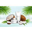 natural coconut cosmetics advertising vector image vector image