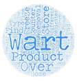 Over the Counter Wart Removal Products text vector image vector image