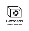 photo box logo vector image