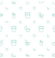 pot icons pattern seamless white background vector image vector image