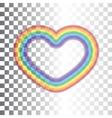 Rainbow icon heart vector image vector image