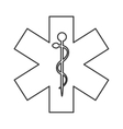 rod of asclepius icon vector image vector image