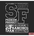 san francisco vintage stamp vector image vector image