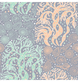 seamless pattern with algae and seashells vector image