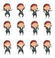Set of cartoon business women vector image vector image