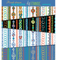 Set of seamless ethnic patterns vector image