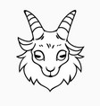 simplified outline goat head template vector image vector image