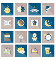 sleep flat icon vector image vector image