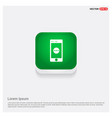 smart phone icon green web button vector image