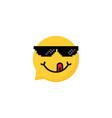 Speech bubble emoji with tongue