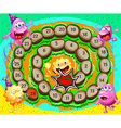 Sprial game with monsters vector image vector image