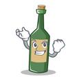 successful wine bottle character cartoon vector image vector image