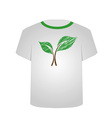 T Shirt Template- sketched seedling vector image vector image