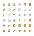 Text formatting flat design icon set Document pen vector image