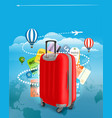 travel bag and different touristic elements