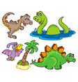 various dinosaur collection vector image