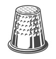 vintage sewing thimble template vector image vector image