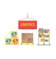 Warehouse Packs Storage Set vector image vector image