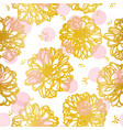 white pattern with golden flower vector image vector image