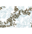 wild flowers blossom branch seamless pattern vector image vector image