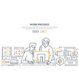 work process - modern line design style banner vector image vector image