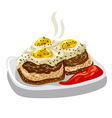 burgers with fried eggs vector image