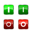 power switch icons buttons vector image