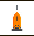 flat vacuum cleaner icon logo isolated on white vector image