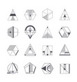 set of abstract linear hipster tribal vector image