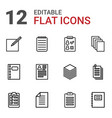 12 notepad icons vector image vector image