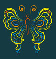 a beautiful butterfly is drawn by hand for your vector image vector image