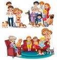 a set big family vector image vector image
