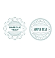 a set of guilloche seal vector image vector image