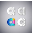 Abstract Combination of Letter A vector image vector image