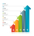 arrow infographic template for data visualization vector image vector image