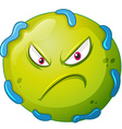 Bacteria with angry face vector image vector image