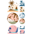 Beach symbols vector | Price: 1 Credit (USD $1)