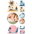 Beach Symbols vector image vector image