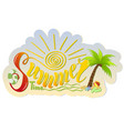 beautiful handwritten text of summer time on a vector image vector image