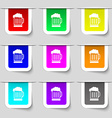Beer glass icon sign Set of multicolored modern vector image vector image