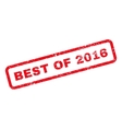 Best Of 2016 Text Rubber Stamp vector image vector image